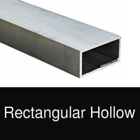 Aluminium rectangular hollow